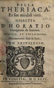 Della Theriaca 1594