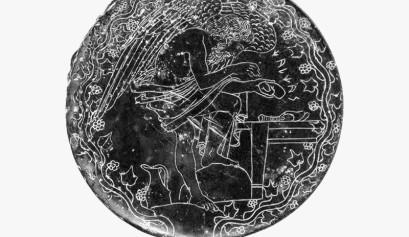 Specchio etrusco in bronzo bn2