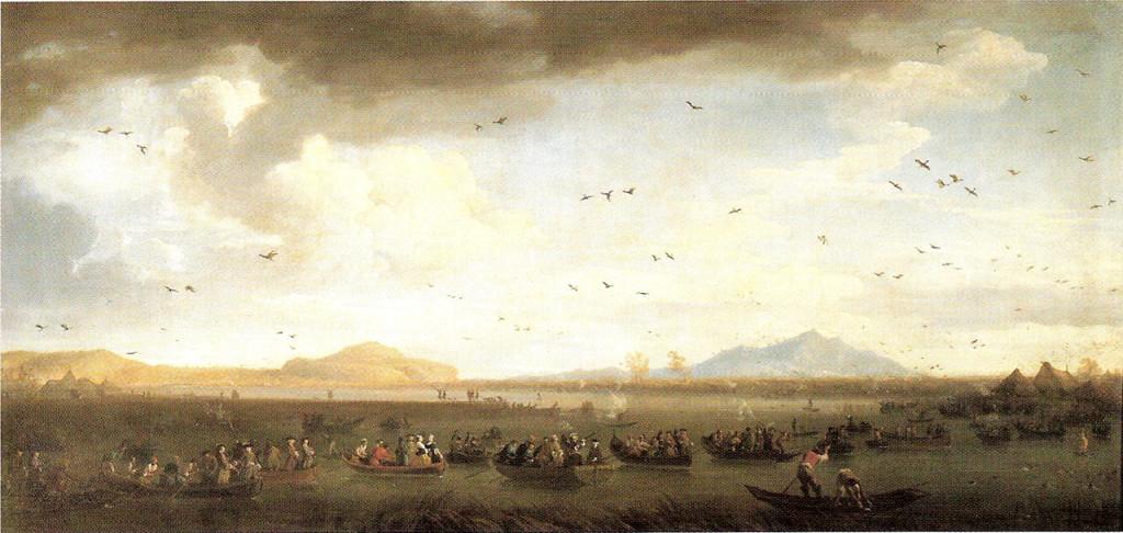 Carlo III di Borbone a caccia di folaghe sul Lago di Licola