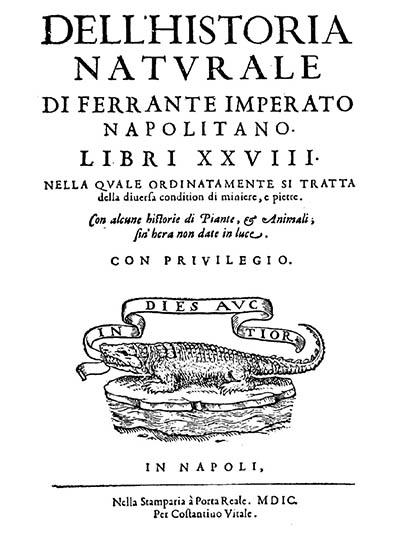 Frontespizio Dell'Historia Naturale