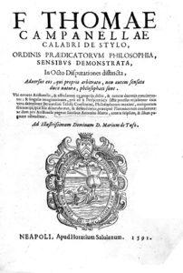 Philosophia sensibus demonstrata, 1591- frontespizio (Archivio ILIESI CNR)