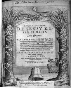 De Sensu Rerum et Magia, 1620 – frontespizio (Archivio ILIESI CNR)