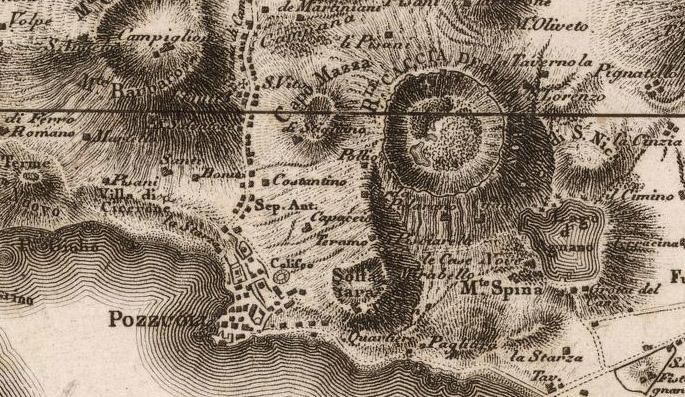Astroni - Rizzi Zannoni - Giovanni Anto - No 14 Napoli, Ischia, Procida - 1794
