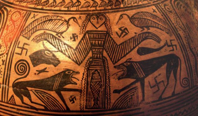 Britomarti – particolare di una pittura vascolare di un'anfora da Tebe – VII secolo a.C.