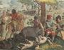 Caccia al cinghiale (Jan van der Straet, Venationes ferarum, avium, piscium, pugnae bestiariorum et mutuae bestiarum [...], Anversa, Philippe Galle, 1602).