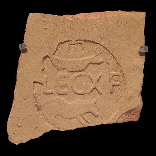 Emblema della legione X Fretensis (dalla foto di Yoav Dothan, wikipedia).